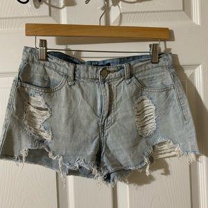 Forever 21 High Waisted Denim Shorts Size …